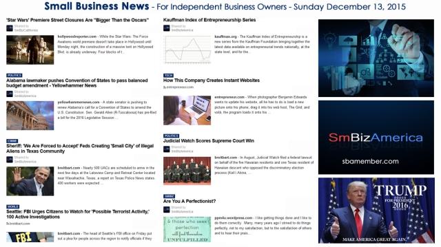 SMALL BUSINESS NEWS December 13 2015