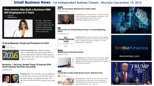 SMALL BUSINESS NEWS December 14 2015