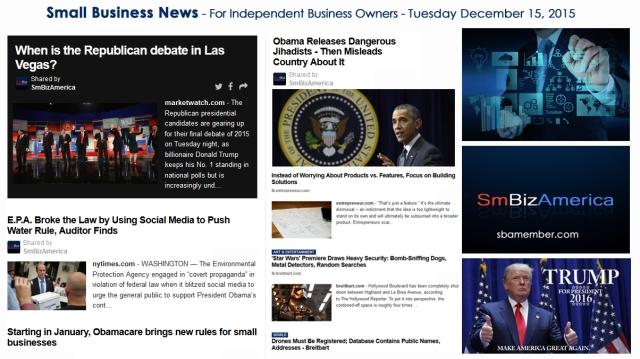 SMALL BUSINESS NEWS December 15 2015