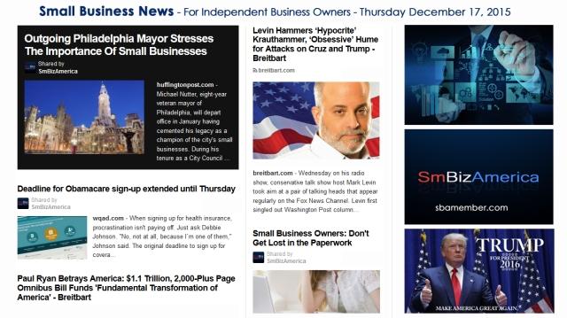 SMALL BUSINESS NEWS December 17 2015