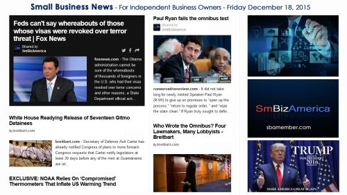 SMALL BUSINESS NEWS December 18 2015
