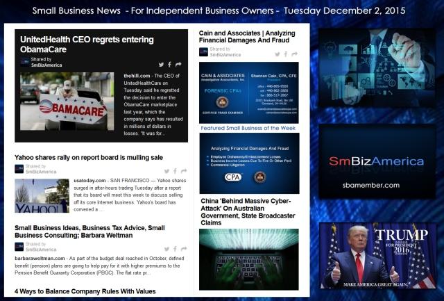 Small Business News December 2 2015