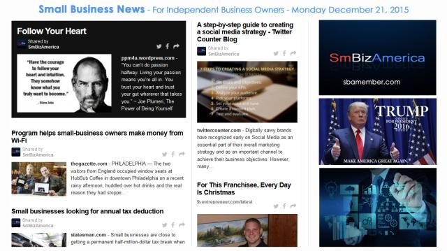 SMALL BUSINESS NEWS December 21 2015