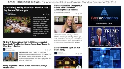 SMALL BUSINESS NEWS December 22 2015