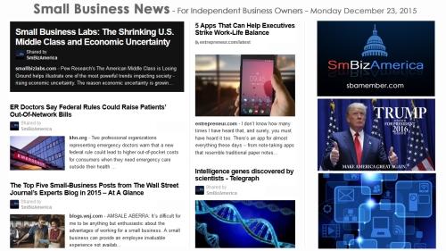 SMALL BUSINESS NEWS December 23 2015