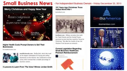 SMALL BUSINESS NEWS December 25 2015