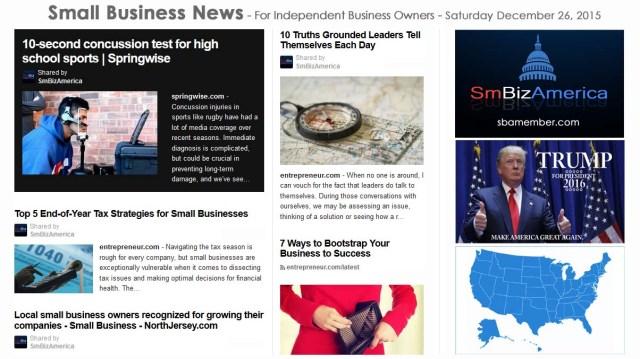 SMALL BUSINESS NEWS December 26 2015
