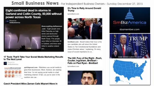 SMALL BUSINESS NEWS December 27 2015