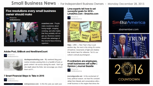SMALL BUSINESS NEWS December 28 2015