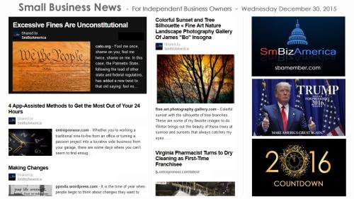 SMALL BUSINESS NEWS December 30 2015