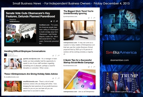 Small Business News December 4 2015