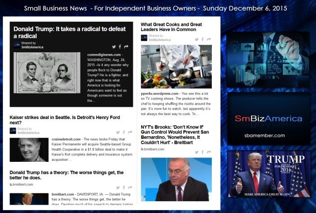 Small Business News December 6 2015