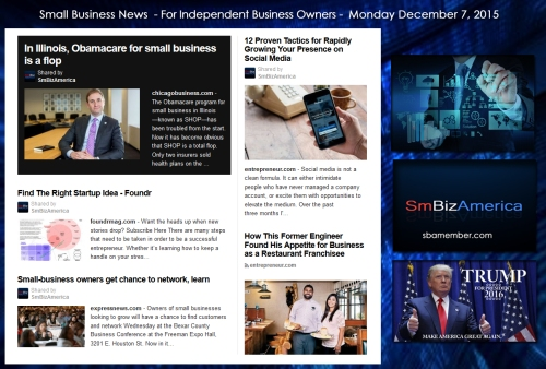 Small Business News December 7 2015