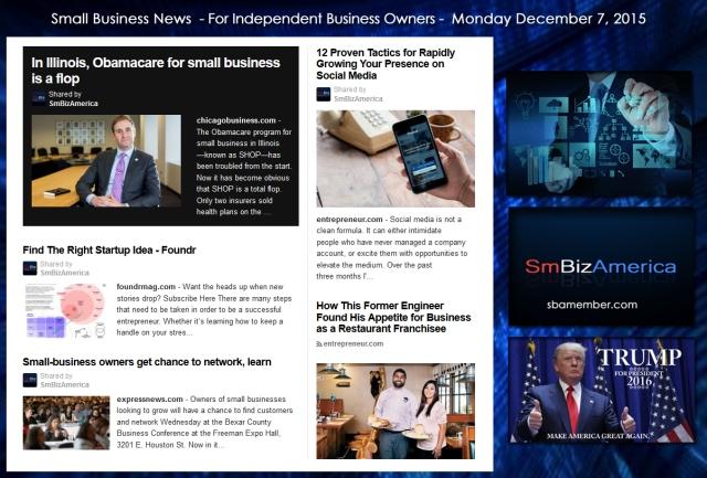 Small Business News December 7 2015