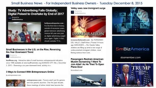 SMALL BUSINESS NEWS December 8 2015