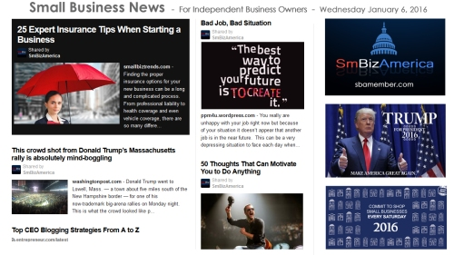 Small Business News 010616