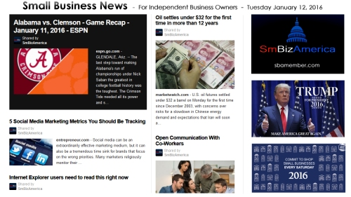 Small Business News 011216