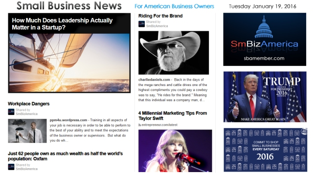 Small Business News 011916