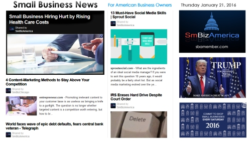 Small Business News 012116