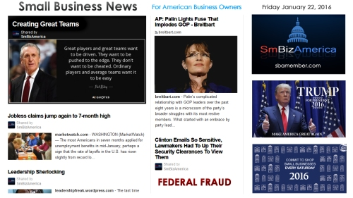 Small Business News 012216