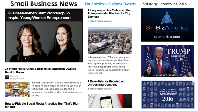 Small Business News 012316