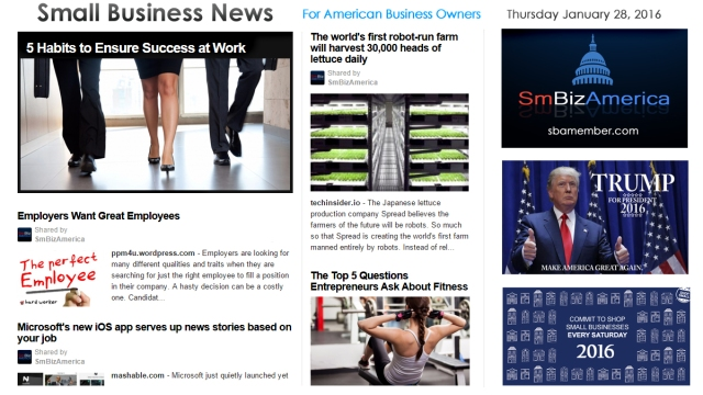 Small Business News 012816