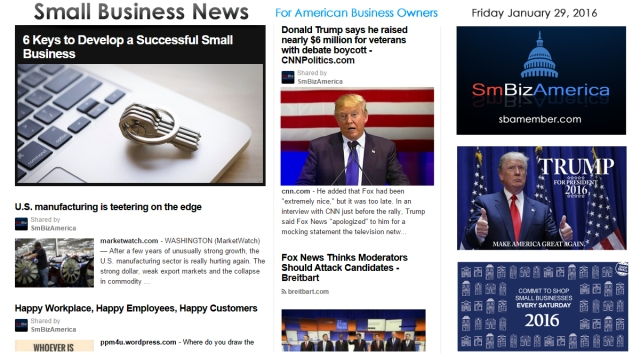 Small Business News 012916