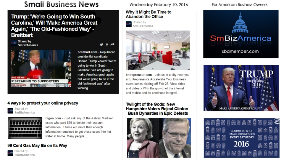 Small Business News 2.10.2016