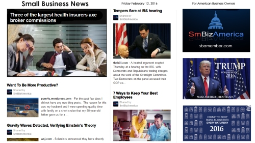 Small Business News 2.12.16 SmBizAmerica