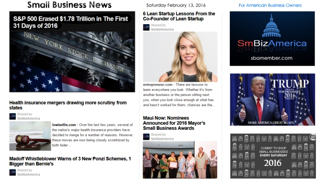 Small Business News 2.13.2016