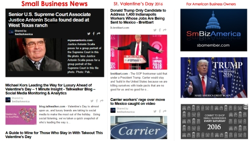Small Business News 2.14.16
