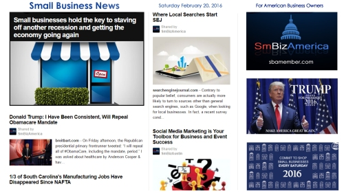 Small Business News 2.20.2016