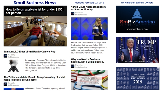 Small Business News 2.22.16