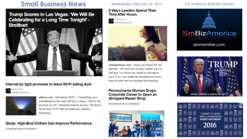 Small Business News 2.24.16
