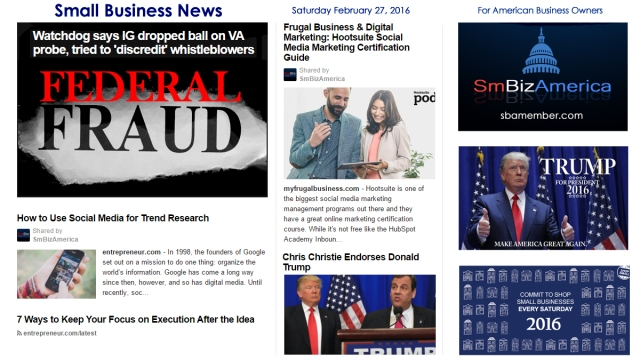 Small Business News 2.27.16