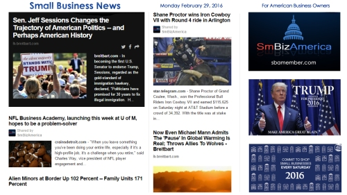 Small Business News 2.29.16 HAPPY LEAP YEAR DAY