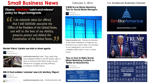 SMALL BUSINESS NEWS 2.5.16
