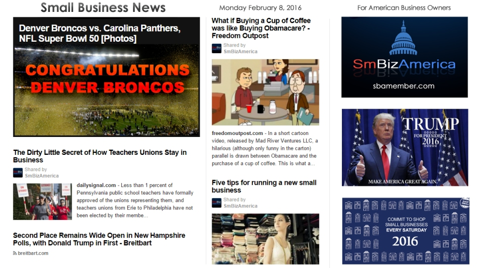 Small Business News 2.8.2016