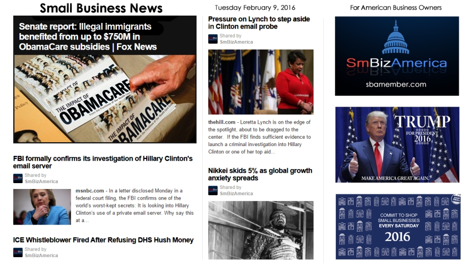Small Business News 2.9.2016