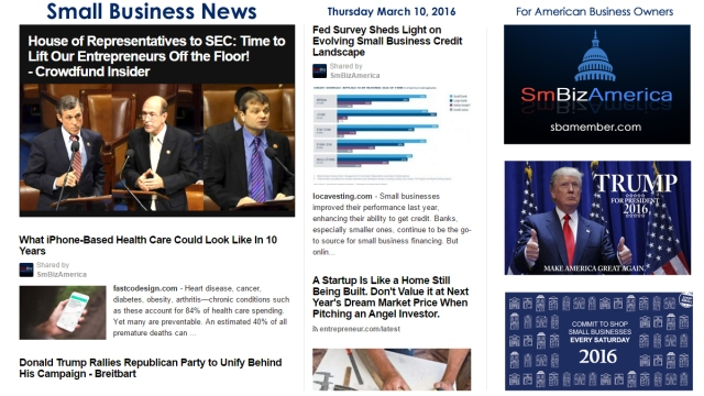 Small Business News 3.10.16