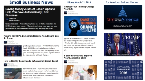 Small Business News 3.11.16