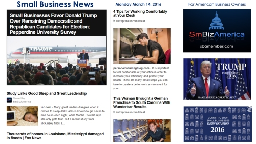 Small Business News 3.14.16