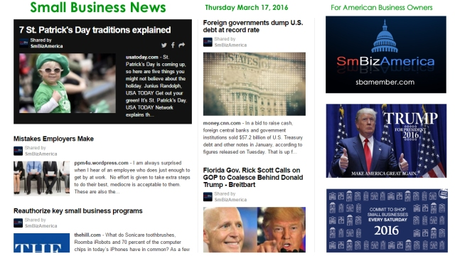 Small Business News 3.17.16