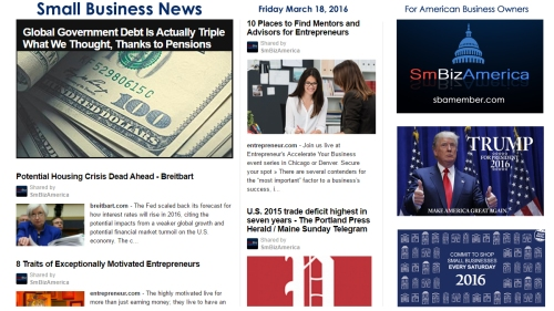 Small Business News 3.18.16