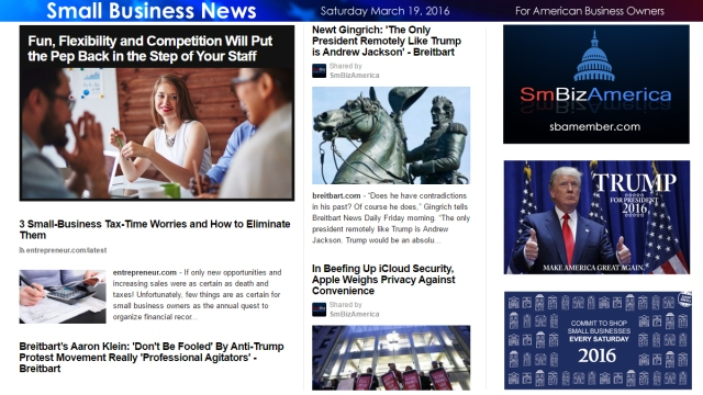 Small Business News 3.19.16