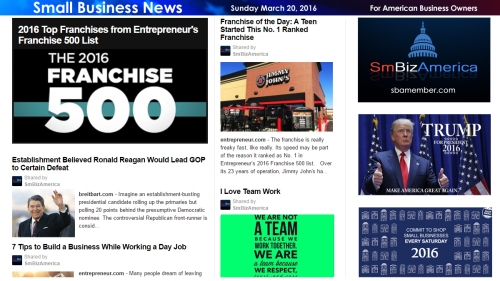 Small Business News 3.20.16