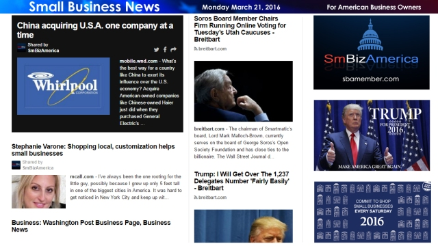 Small Business News 3.21.16