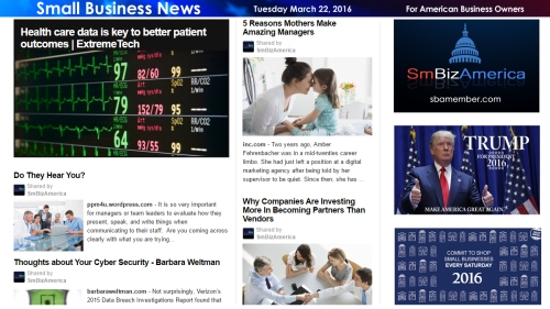 Small Business News 3.22.16