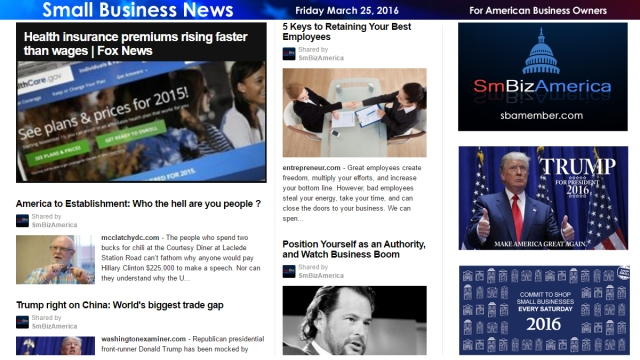 Small Business News 3.25.16