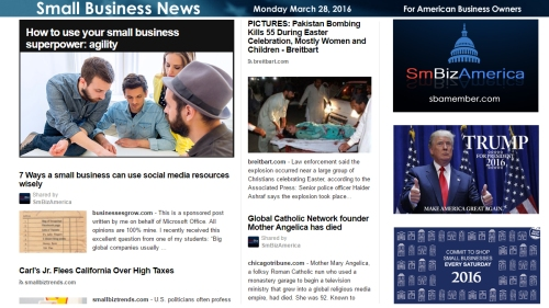 Small Business News 3.28.16